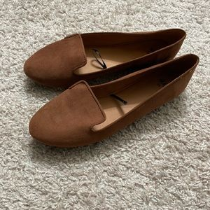 Brown loafers size 8